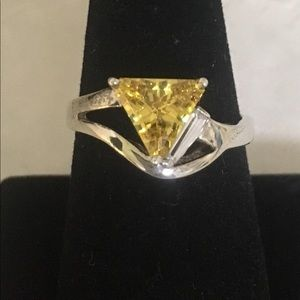 Vintage sterling citrine ring